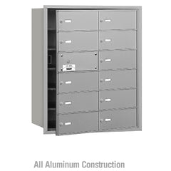 Salsbury Industries Commercial 4B+ Horizontal Mailbox 12 B Door 11 Usable Front Loading USPS Access