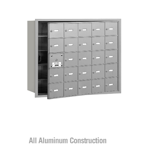 Salsbury Industries Commercial 4B+ Horizontal Mailbox 25 A Door 24 Usable Front Loading USPS Access