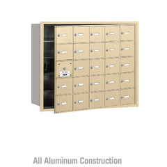 Salsbury Industries Commercial 4B+ Horizontal Mailbox 25 A Doors 24 Usable Front Loading USPS Access