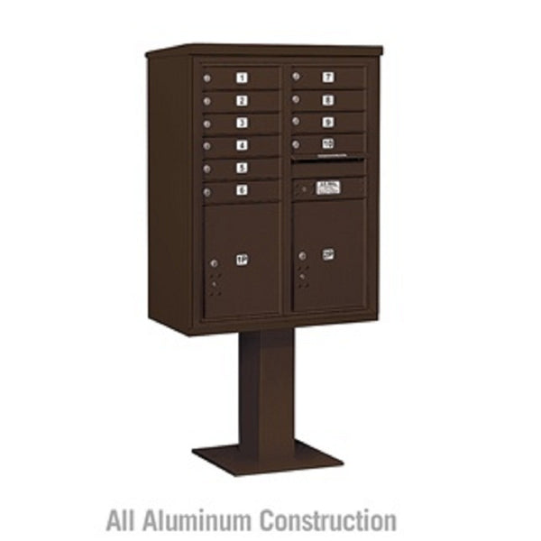 Salsbury Industries 4C+ Horizontal Mailbox Unit 11 Door Double Column Front  Loading Private Access