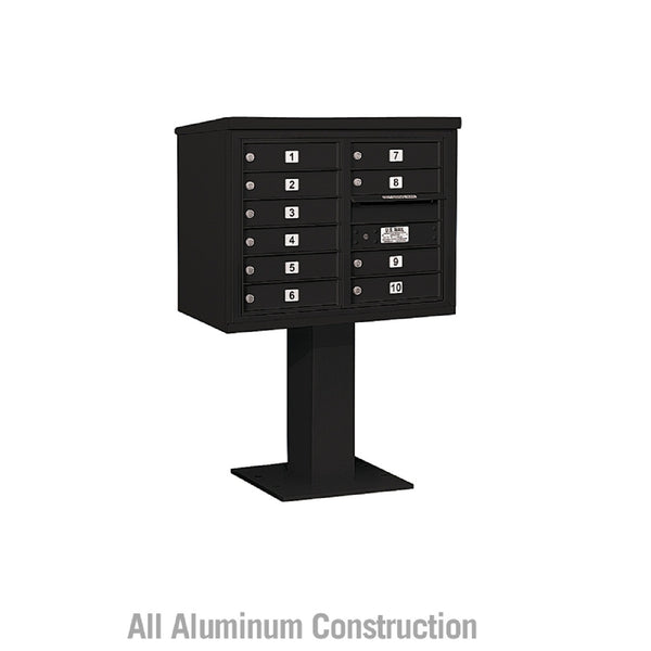 Salsbury Industries Pedestal Mounted 4C+ Horizontal Mailbox Front Loading Private Access