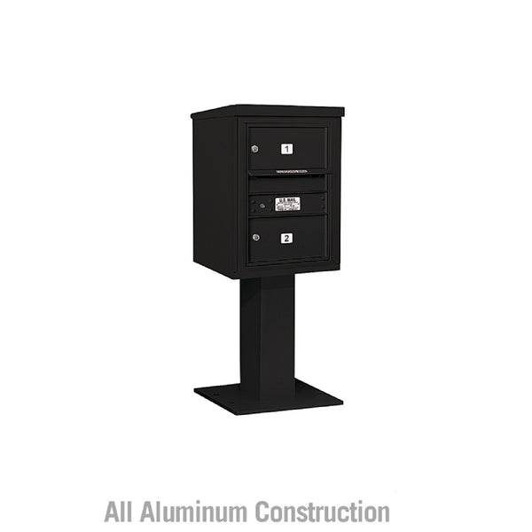 Salsbury Industries Pedestal Mounted 4C+ Horizontal Mailbox Front Private Access