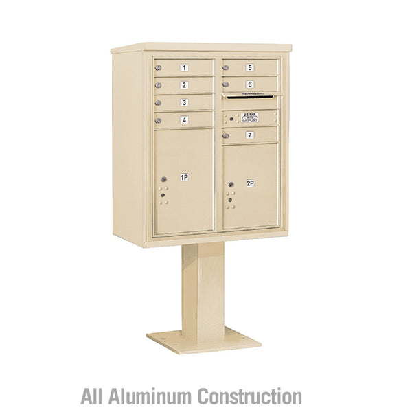 Salsbury Industries Pedestal 4C+ Horizontal Mailbox 10 Door Double Column