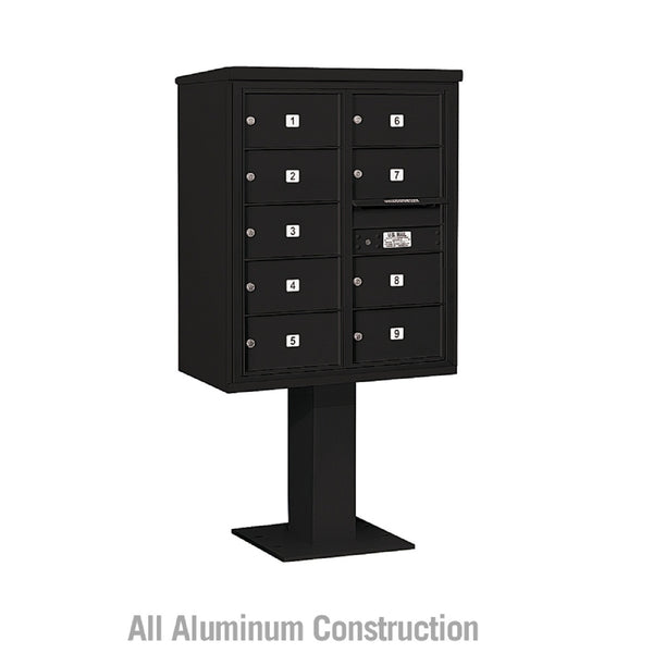 Salsbury Industries Pedestal Mounted 4C+ Horizontal Mailbox Double Column