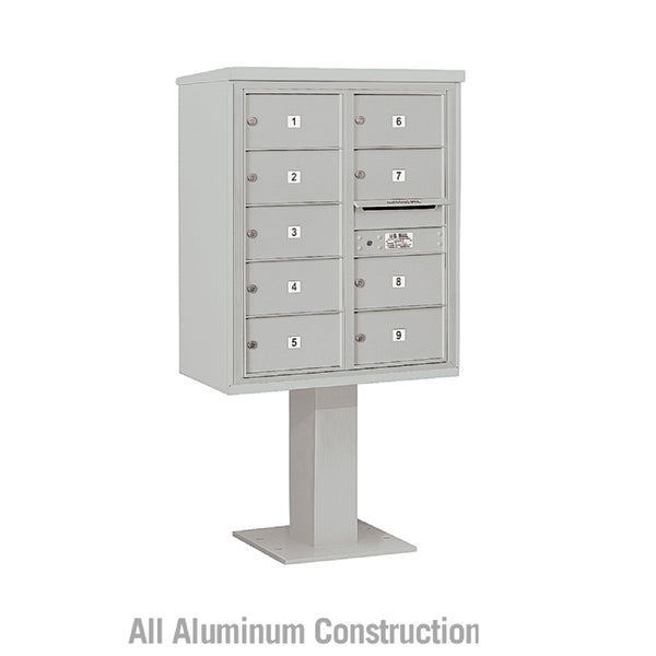 Salsbury Industries Pedestal Mounted 4C+ Horizontal Mailbox Two Column