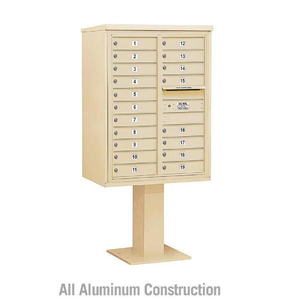 Salsbury Industries 4C+ Horizontal Mailbox Unit 11 Door High Double Column Front  Loading Private Access