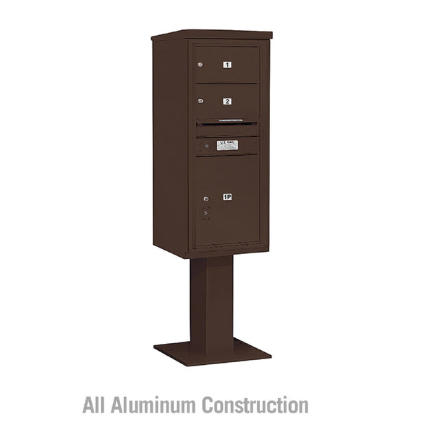 Salsbury Industries 4C+ Horizontal Mailbox Unit 11 Door High Double Column Stand Alone Parcel