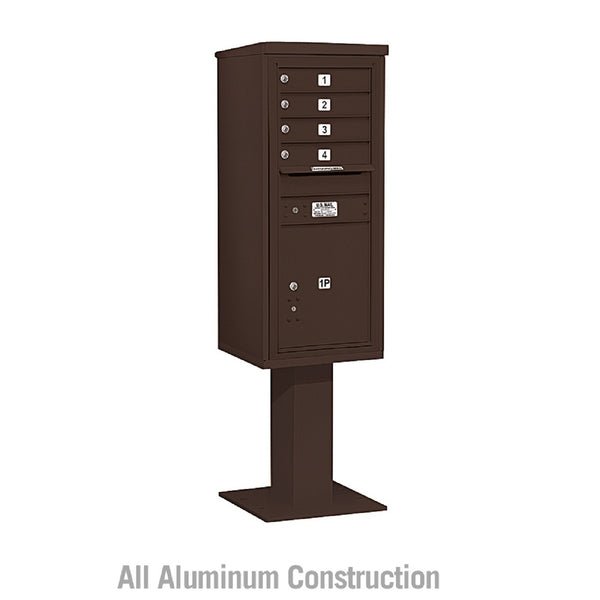 Salsbury Industries 4C+ Horizontal Mailbox Unit 11 Door High Single Column Front  Loading Private Access