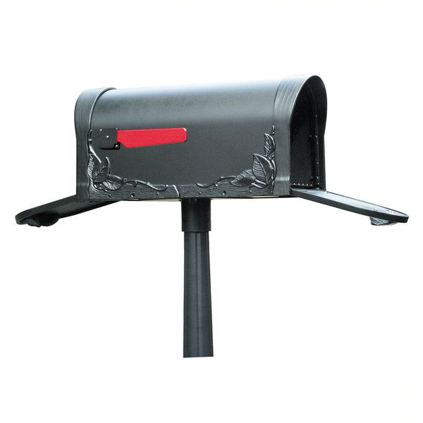 Special Lite Products Floral Curbside Mailbox with Two Doors