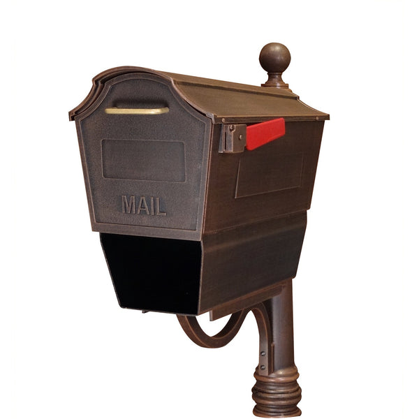 Special Lite Products Town Square Curbside Mailbox with Paper Tube