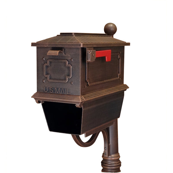 Special Lite Products Kingston Curbside Mailbox with Paper Tube