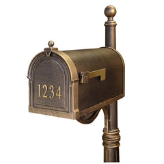 Special Lite Products Berkshire Curbside Customized Post Mount Mailbox in Hand Rubbed Bronze