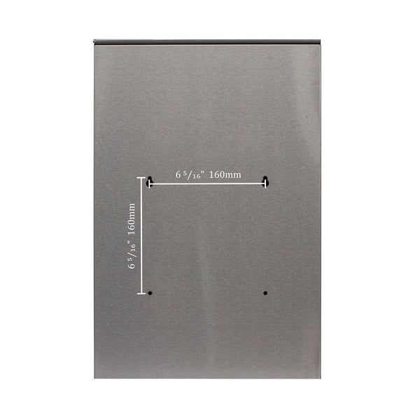 QualArc Glacial Locking Mailbox Stainless Steel