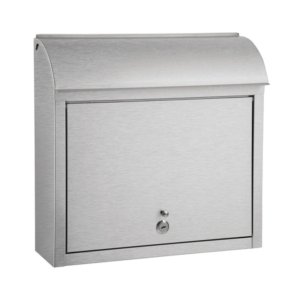 QualArc Compton Locking Wall Mount Mailbox Stainless Steel