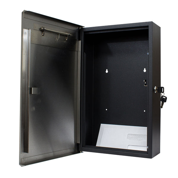 QualArc Winfield Verse Wall Mount Locking Mailbox Stainless