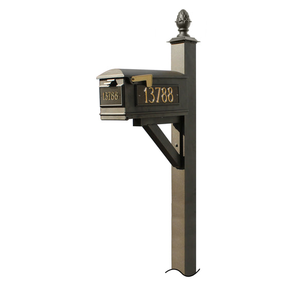 QualArc Westhaven System with Lewiston Mailbox, (No Base) Pineapple Finial