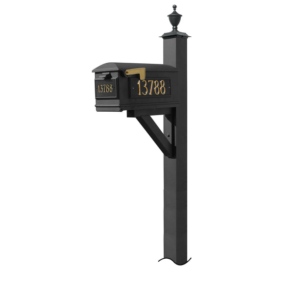 QualArc Westhaven System with Lewiston Mailbox, (No Base) Urn Finial