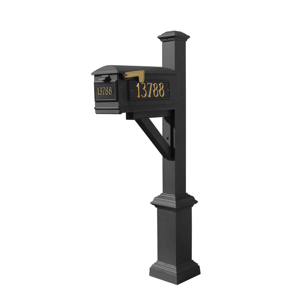 QualArc Westhaven System with Lewiston Mailbox, Square Base & Pyramid Finial