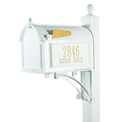 Whitehall Superior Package Capitol Complete Mailbox Post System with Address Plaque