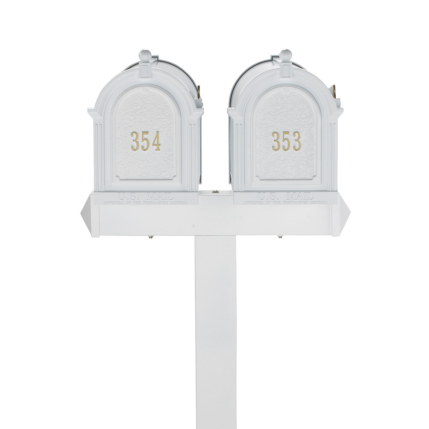 Whitehall Products Personalized Multi Mailbox Dual Capitol