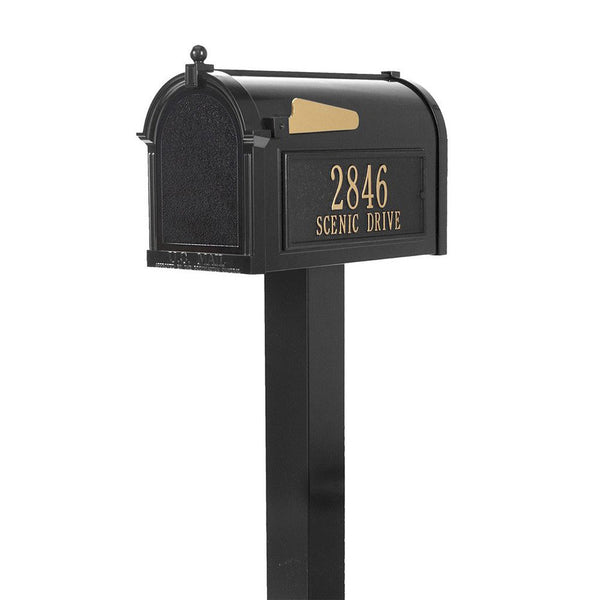 Whitehall Products Premium Mailbox Package Fully Customized in Black