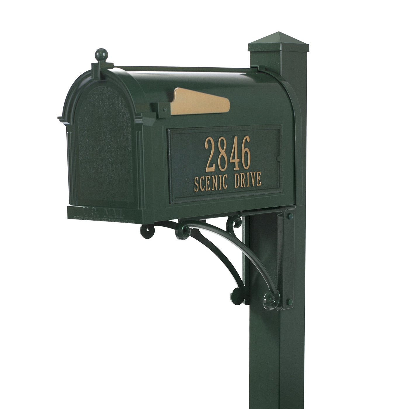 Whitehall Products Superior Custom Mailbox Package With