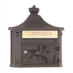 Amco Victorian Cast Aluminum Classic Wall Mount Residential Mailbox