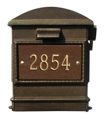 QualArc Personalized Lewiston Complete Mailbox Ornate Base & Pineapple