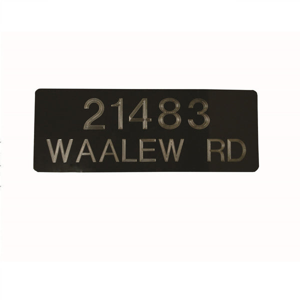 Jayco Industries Aluminum Address Plaque Double Line