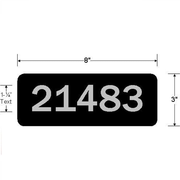 Jayco Industries Aluminum Address Plaque Single Line
