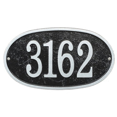 Whitehall Fast & Easy Oval House Numbers Address Plaque