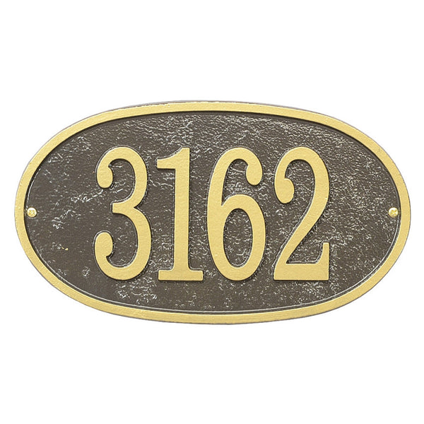 Whitehall Fast & Easy Personalized Oval House Numbers Address Plaque