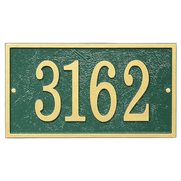 Whitehall Fast & Easy Personalized Rectangle House Numbers Address Plaque