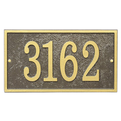 Whitehall Fast & Easy Rectangle House Numbers Address Plaque