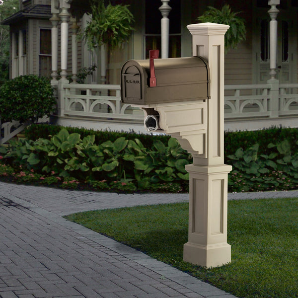 Mayne Dover Plastic Decorative Residential Commercial Mailbox Post