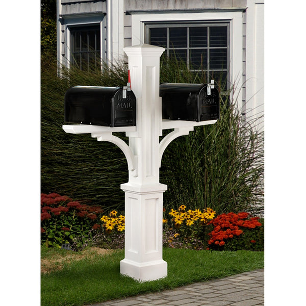 Mayne Newport Plus Residential Commercial Double Mailbox Post