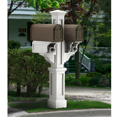 Mayne Rockport Double Residential Commercial Mailbox Post