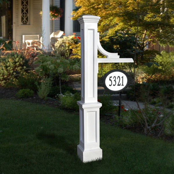 Mayne Woodhaven Decorative Residential Commercial Address Sign Post