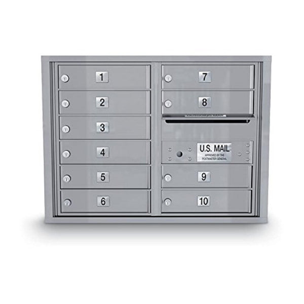 Postal Products Unlimited 10 Door Standard 4C Mailbox