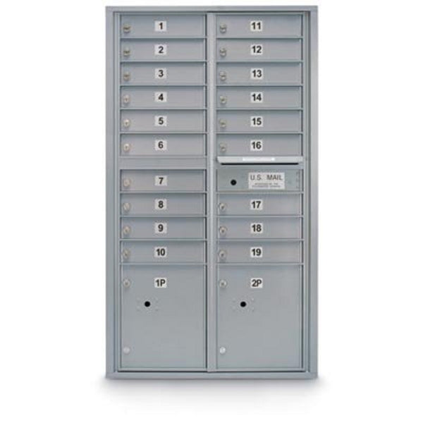 Postal Products Unlimited 19 Door Standard 4C Mailbox with 2 Parcel Lockers