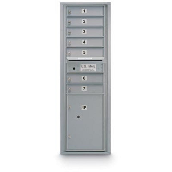 Postal Products Unlimited 7 Door Standard 4C Mailbox with 1 Parcel Locker