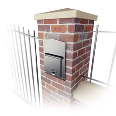 QualArc LettaSafe Kingsbury Column Mounted Rear Retrieval Mailbox; LSF-LS01