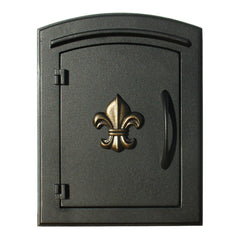QualArc Manchester Column Mounted Mailbox Decorative Fleur De Lis; MAN-1402