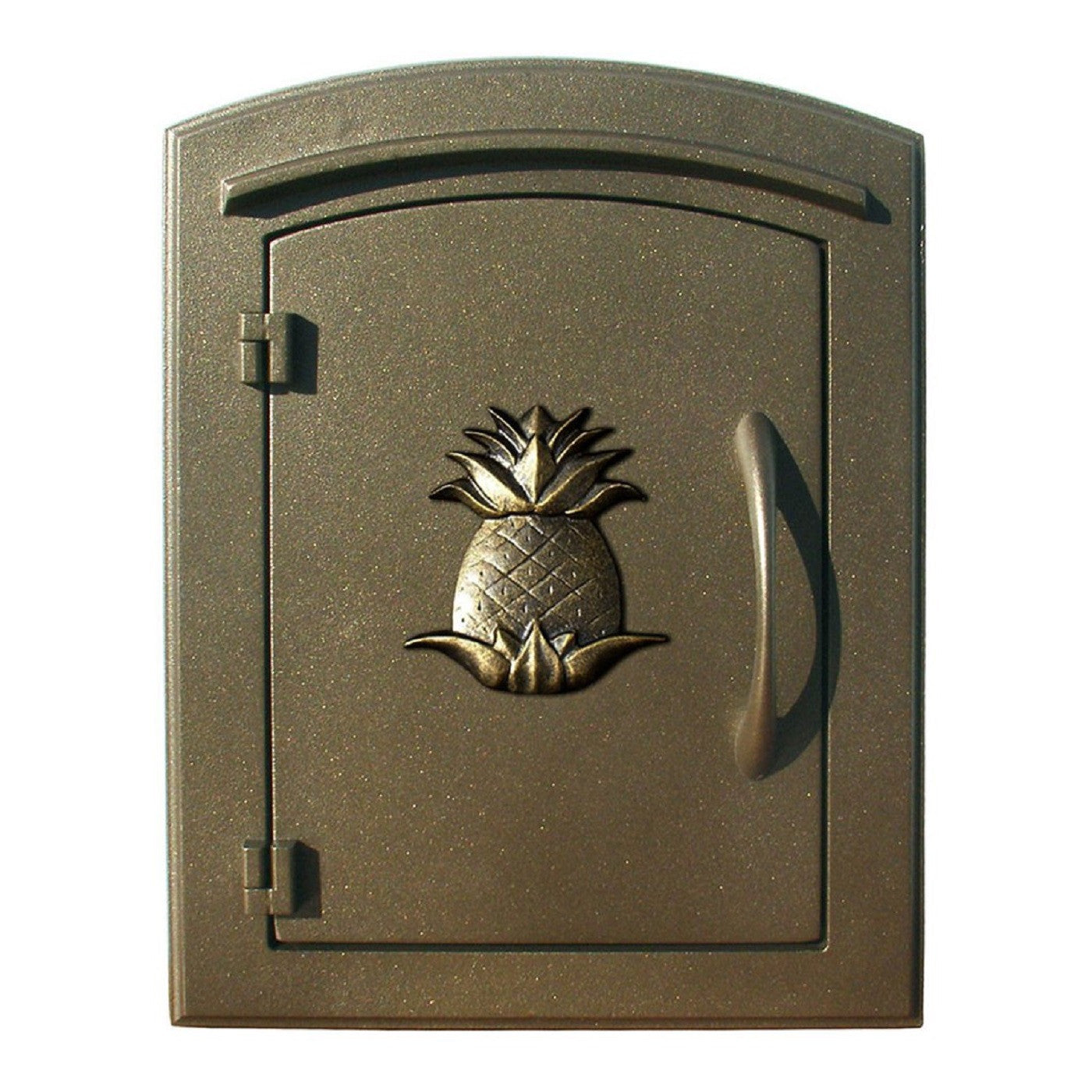 Qualarc Manchester Security Drop Chute Mailbox Decorative Pineapple Door  Logo Faceplate