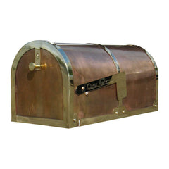 QualArc Provincial Collection Brass Rural Mailboxes; MB3000