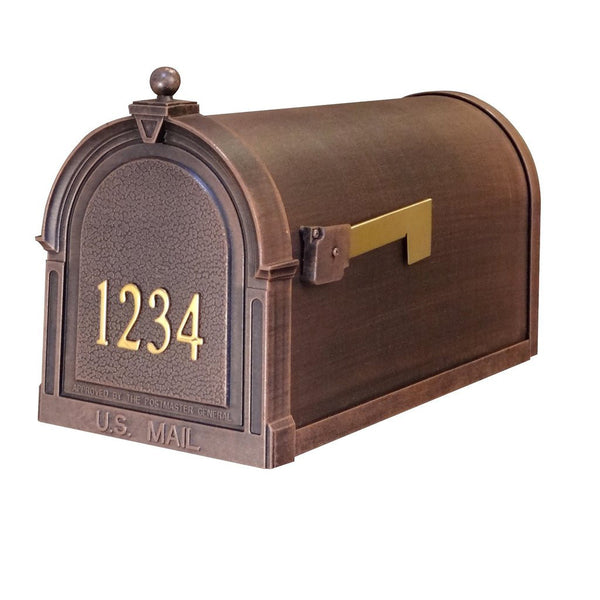Special Lite Products Berkshire Curbside Customized Post Mount Mailbox in Copper