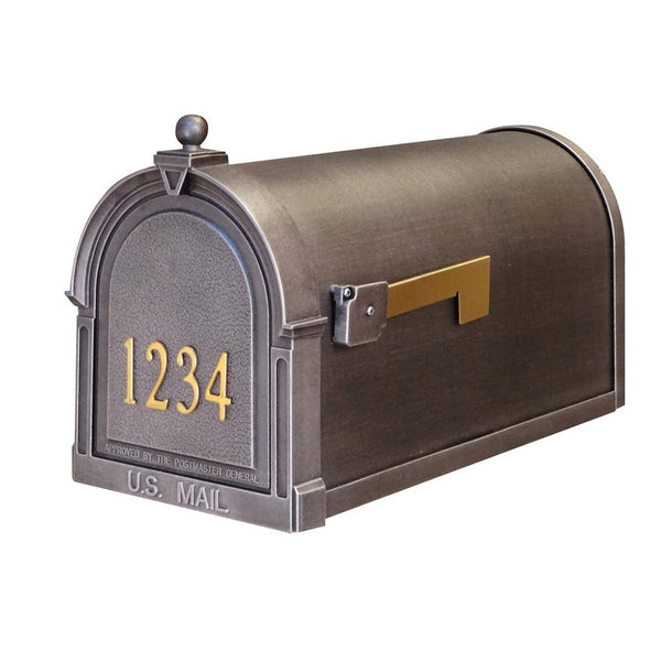 Special Lite Products Berkshire Curbside Customized Post Mount Mailbox in Swedish Silver