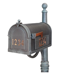 Special Lite Products Berkshire Curbside Customized Post Mount Mailbox in Verde Green