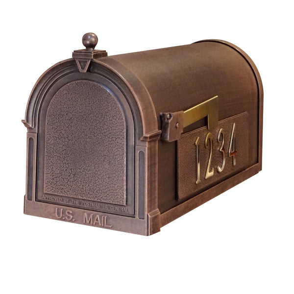 Special Lite Products Berkshire Curbside Mailbox with Side Numbers