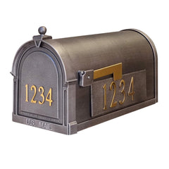 Special Lite Custom Mailbox in Swedish Silver